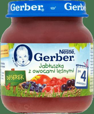 GERBER Jabłuszka z owocami leśnymi (125g)