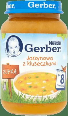 GERBER Zupka jarzynowa z kluseczkami (190g)