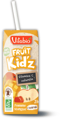 3x VITABIO Jablko, mango a acerola Fruit Kid'z 20 cl - ovocná šťava