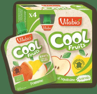 4x VITABIO Jablko a acerola Cool fruits 90 g - ovocné kapsičky