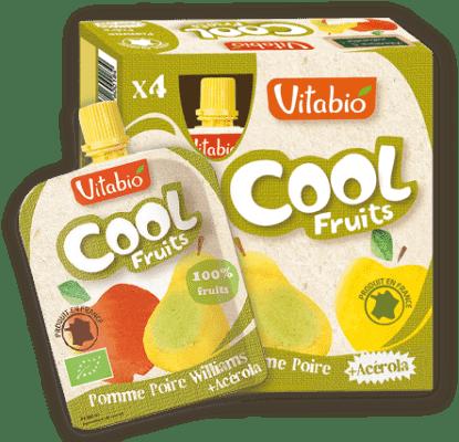 4x VITABIO Jablko, hruška Williams a acerola Cool fruits 90 g - ovocné kapsičky