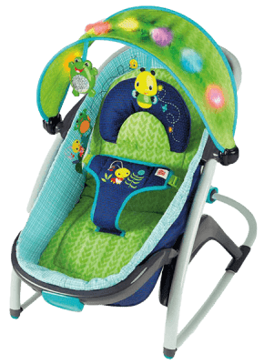 BRIGHT STARTS Lehátko Light Up Lagoon Rocker Napper, 0m+