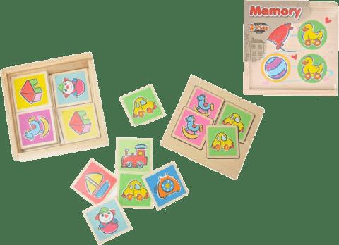 2-PLAY Memory drewniane – okragłe