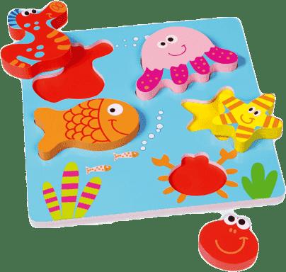 SCRATCH Vkládací puzzle Mořský svět