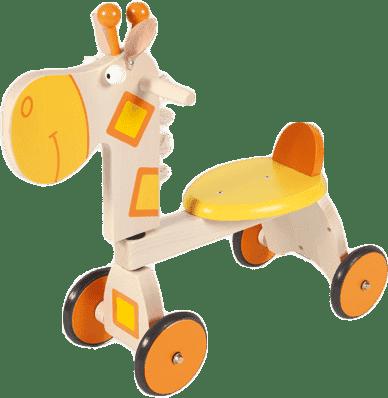 Scratch jeździk drewniany 4-kołowy Żyrafa