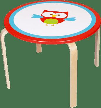 SCRATCH Dřevěný dětský stůl Sovička