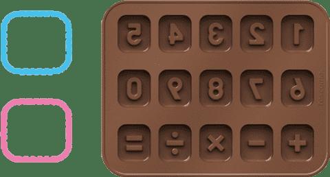 TESCOMA Foremki do czekolady DELICIA KIDS, cyfry