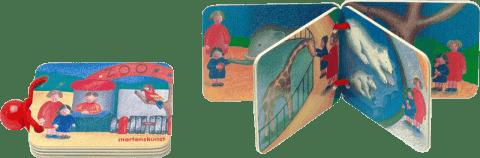 BINO Drevená knižka - ZOO