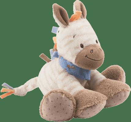 NATTOU Hračka plyšová hrkací zebra Arthur 18 cm