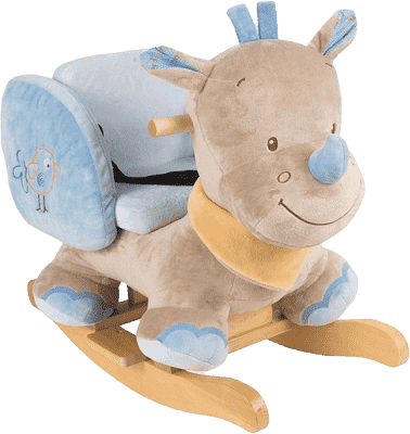 NATTOU Houpačka nosorožec Louis