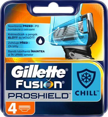 GILLETTE Fusion ProShield Chill – náhradní holicí hlavice, 4 ks