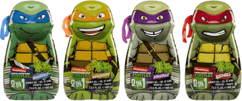 EPLINE Ninja turtles sprchový gel a šampón 400ml