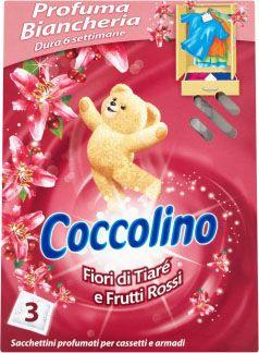 COCCOLINO Jarní vůně vonné sáčky do šatníku 3 ks - růžové