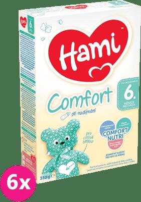 6x HAMI 6+ Comfort (350 g) - dojčenské mlieko