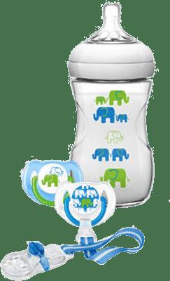 AVENT Sada Natural 1m+, 260ml (PP) Slon - chlapec