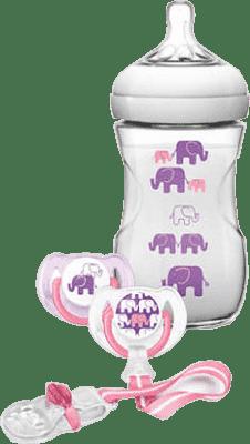 AVENT Sada Natural 1m+, 260ml (PP) Slon - dievča