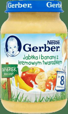 GERBER Jabłka i banany z kremowym twarożkiem 190g