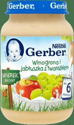 GERBER Winogrona i jabłuszka z twarożkiem (190g)