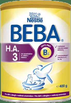 NESTLÉ BEBA HA 3 Protect plus (400 g) – dojčenské mlieko