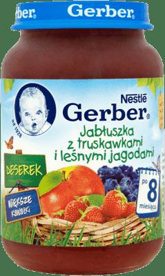 GERBER Deserek jabłuszka z truskawkami i leśnymi jagodami (190g)