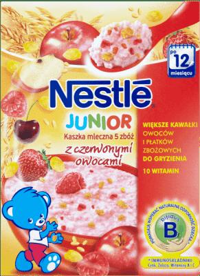 NESTLÉ Kaszka mleczna 5 zbóż z czerwonymi owocami (250g)