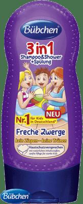 BÜBCHEN Kids šampon, sprchový gel a kondicionér 3v1 Malí šibalové 230 ml