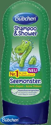 BÜBCHEN Kids šampon a sprchový gel 2v1 Mořská příšerka 230ml