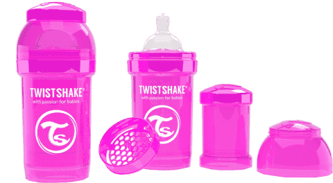 TWISTSHAKE antikoliková fľaša 180ml Ružová