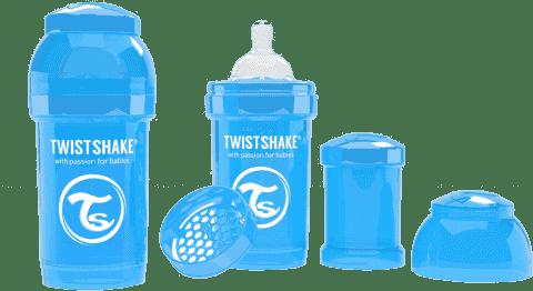 TWISTSHAKE Antykolkowa butelka 180ml Niebieska