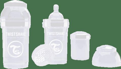 TWISTSHAKE Antikoliková láhev 180ml Bílá