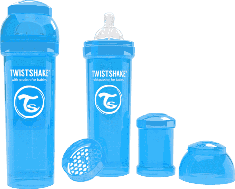 TWISTSHAKE antikoliková fľaša 330ml Modrá