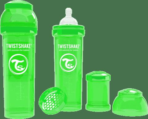 TWISTSHAKE antikoliková fľaša 330ml Zelená