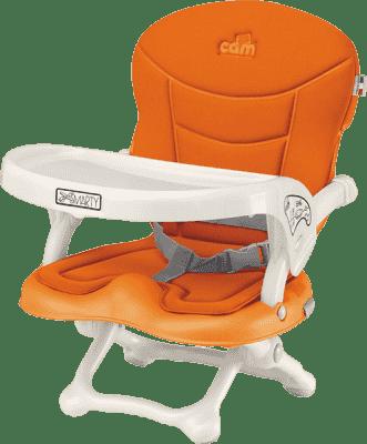 CAM Jídelní židlička Smarty s polstrováním - oranžová