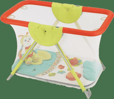 CAM Ohrádka Brevettato s hracou dekou a hračkou - farebná zvieratká