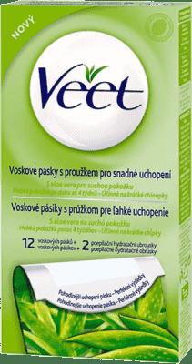 VEET Studené vosk. pásky pro suchou pokožku 12 ks