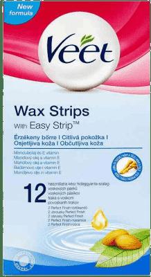 VEET Studené vosk. pásky pro citlivou pokožku 12 ks