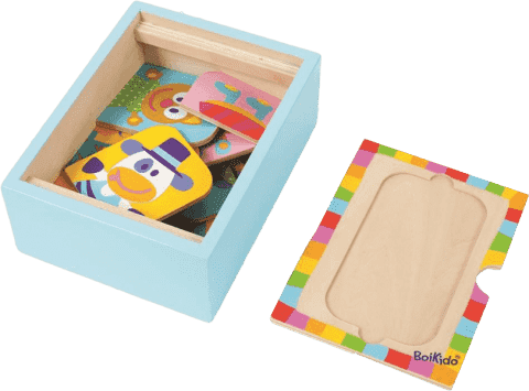 BOIKIDO Puzzle pudełko zwierzątka 12 szt.