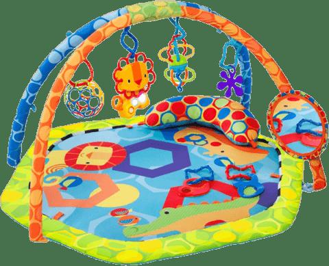 BRIGHT STARTS Deka podporujúca vývoj s hrazdou a hračkami Play-O-Lot Activity Gym ™