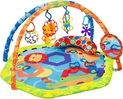 BrightStarts Mata edukacyjna z pałąkiem i zabawkami Play-O-Lot Activity Gym™