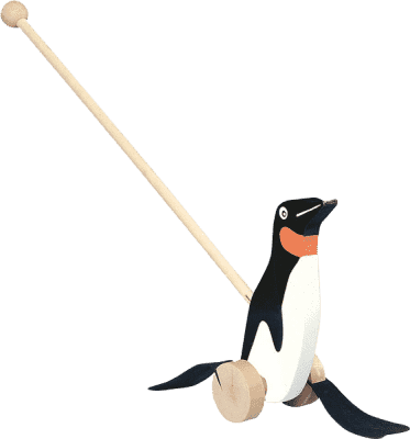 BINO Jazdiaci tučniak - čiernobiely
