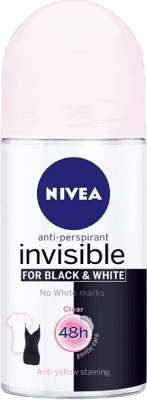 NIVEA Guľôčkový Antiperspirant Black a White Clear 50ml