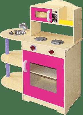 BINO Dziecięca kuchenka z mikrofalówką