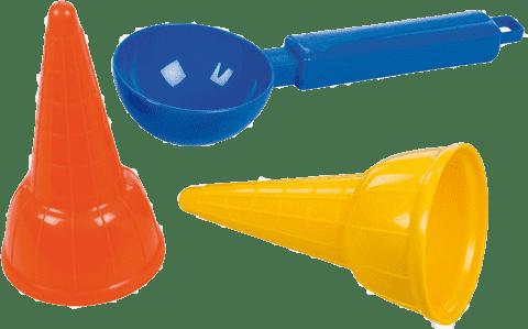 LENA Zmrzlinový set (2x kornout, 1x naběračka)
