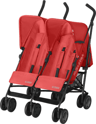 KOELSTRA Dvojčatový golfový kočárek Simba Twin T4 – Red