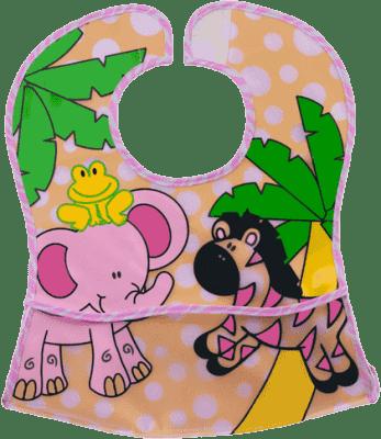 BABY ONO Zmywalny śliniaczek – różowy