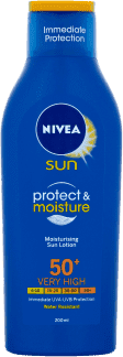 NIVEA SUN Protect & Moiture hydratačné mlieko na opaľovanie OF50 + 200 ml