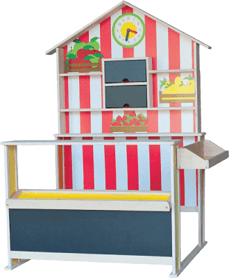 WOODY Drewniany sklepik dziecięcy