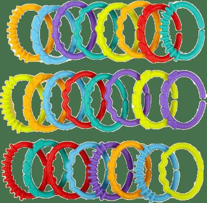 BRIGHT STARTS Kousátko - C kroužky, 24ks, 0m+