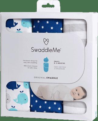 SUMMER INFANT Zavinovačka SwaddleMe modrá sada 3ks