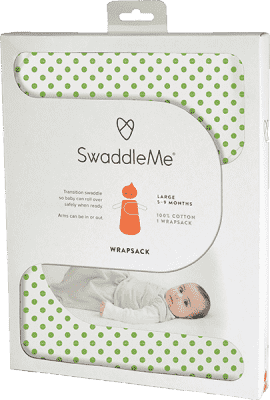 SUMMER INFANT Śpiworek SwaddleMe zielone groszki